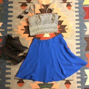 reformation skirt, blue